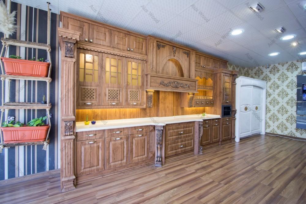 کابینت آشپزخانه کلاسیک طرح چوبی