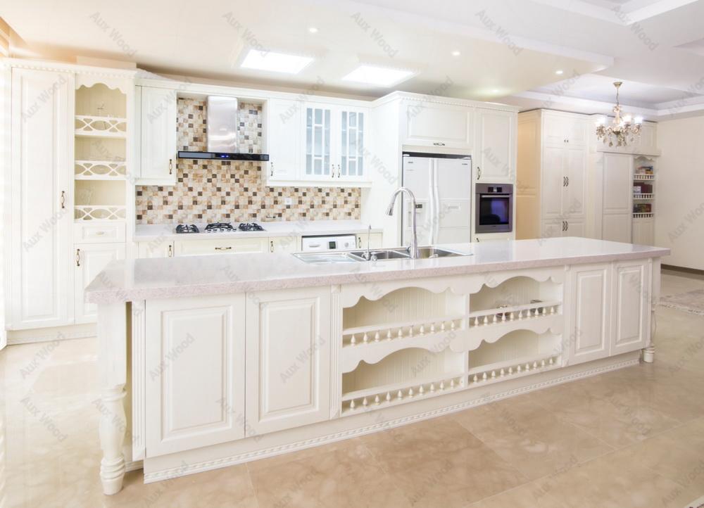 کابینت مدرن در آشپزخانه تک دیوار سفید