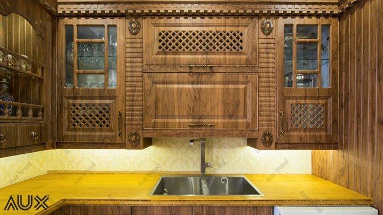 احساس طراوت و انرژی مثبت چوب با کابینت وکیوم آشپزخانه