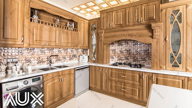 القای شادابی توسط کابینت وکیوم آشپزخانه رنگ روشن