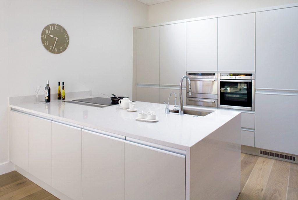 کابینت مدرن آشپزخانه جدید طرح بدون دستگیره