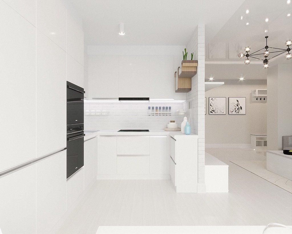فضای کابینت آشپزخانه کوچ با طرح minimal