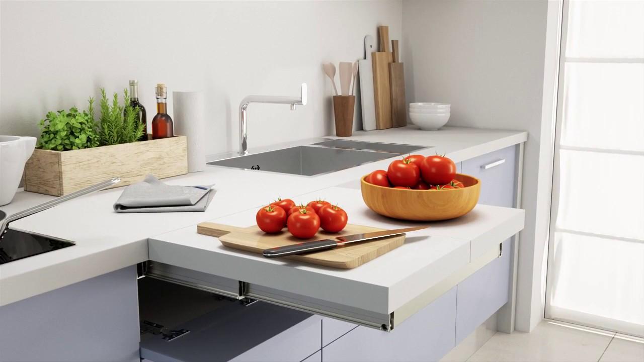 فضای پیشخوان برای کابینت آشپزخانه کوچک