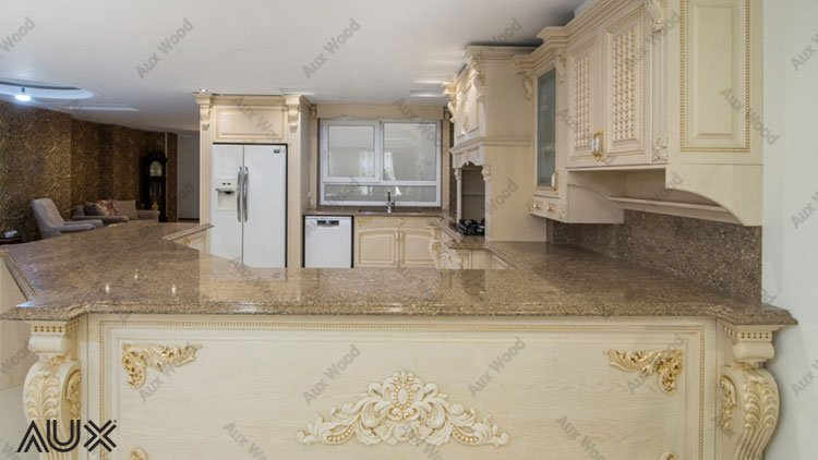 کابینت وکیوم آشپزخانه به رنگ کرم