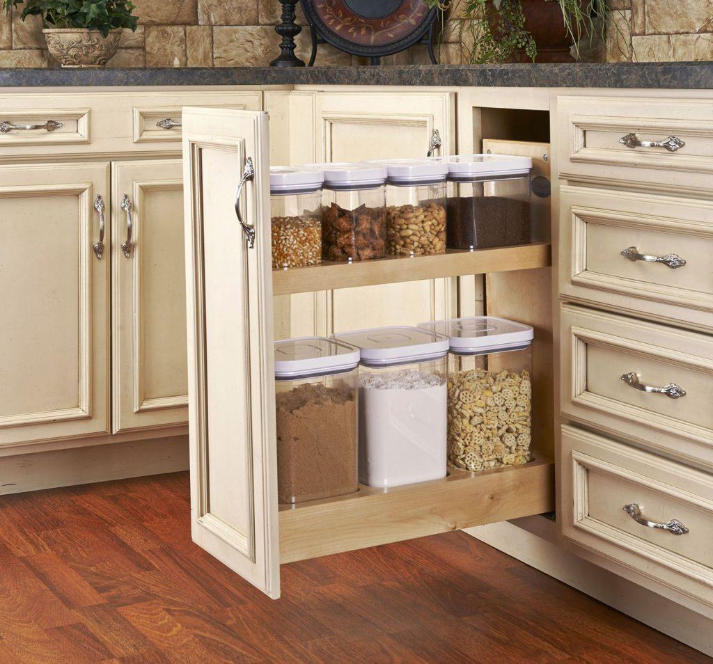 کشور عمودی حبوبات در طراحی کابینت آشپزخانه کوچک