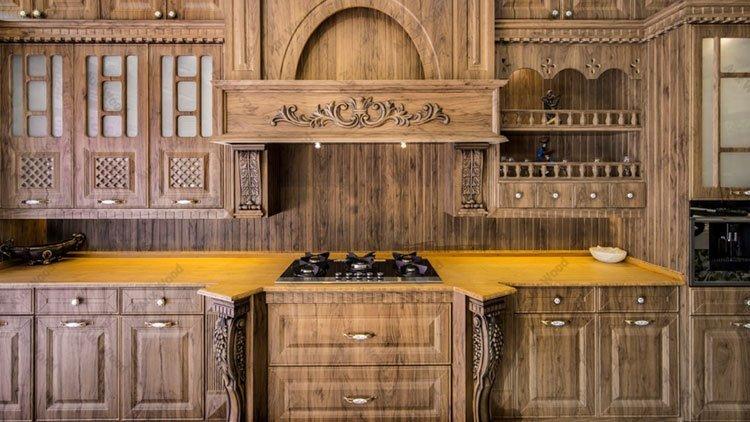 کابینت آشپزخانه روکش چوب