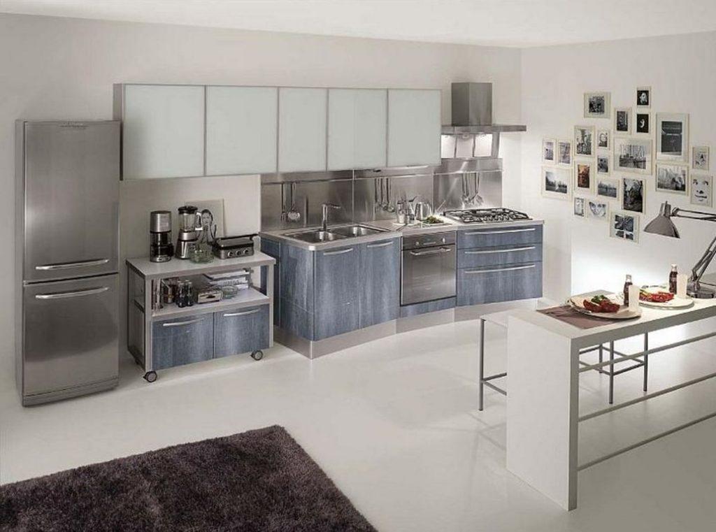 کابینت آشپزخانه metal با وسایل استیل