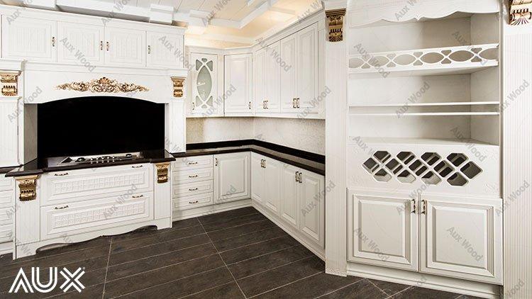 کابینت آشپزخانه انزو : تلفیقی از کابینت هایگلاس و کابینت وکیوم سفید
