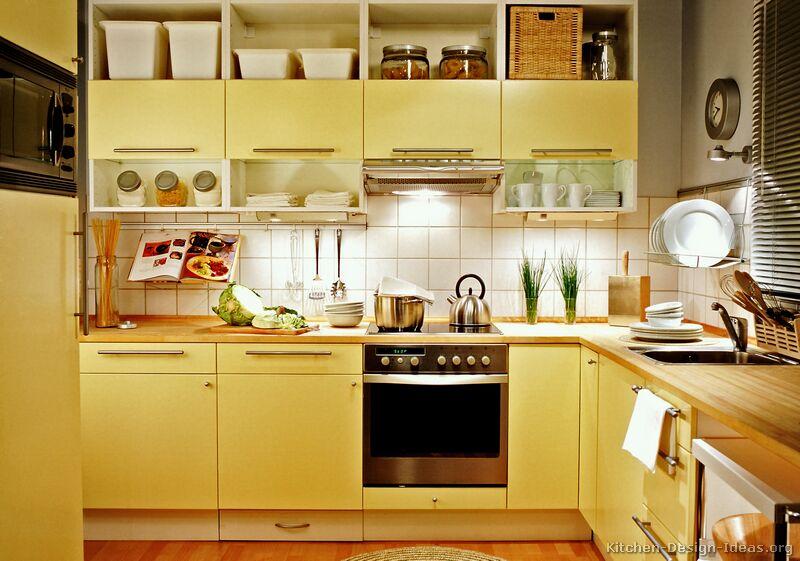 کابینت ام دی اف زرد در آشپزخانه زرد