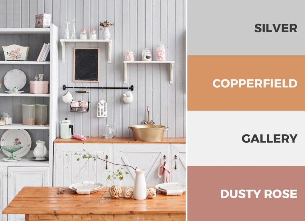 کابینت آشپزخانه سفید و صورتی
