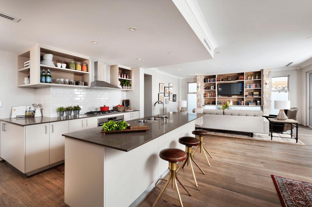 هماهنگی آشپزخانه با سایر اتاق های خانه در ترندهای 2019