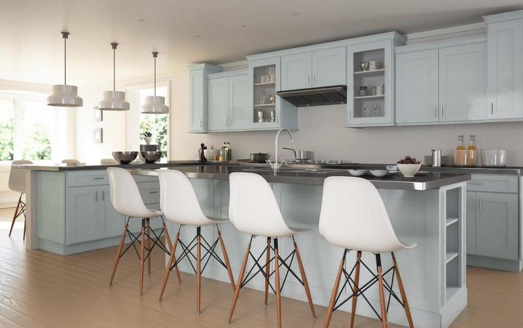 استفاده از رنگ های ملایم در دکوراسیون آشپزخانه 2019