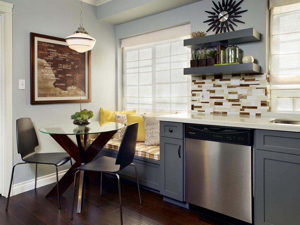 تاثیر رنگ کابینت آشپزخانه کوچک بر فضای پذیرایی شما