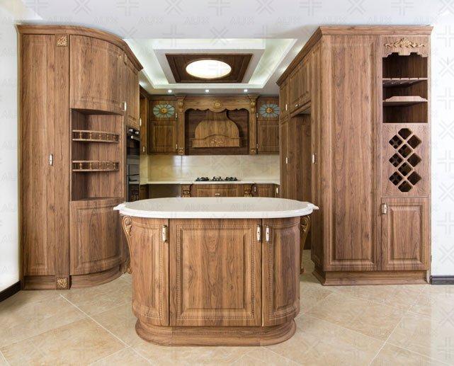 کابینت آشپزخانه وکیوم با دیزاین هلال
