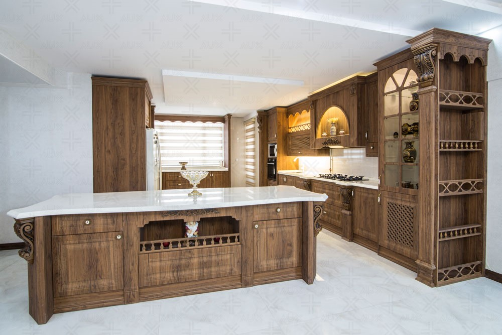 دکوراسیون آشپزخانه ایرانی چوب