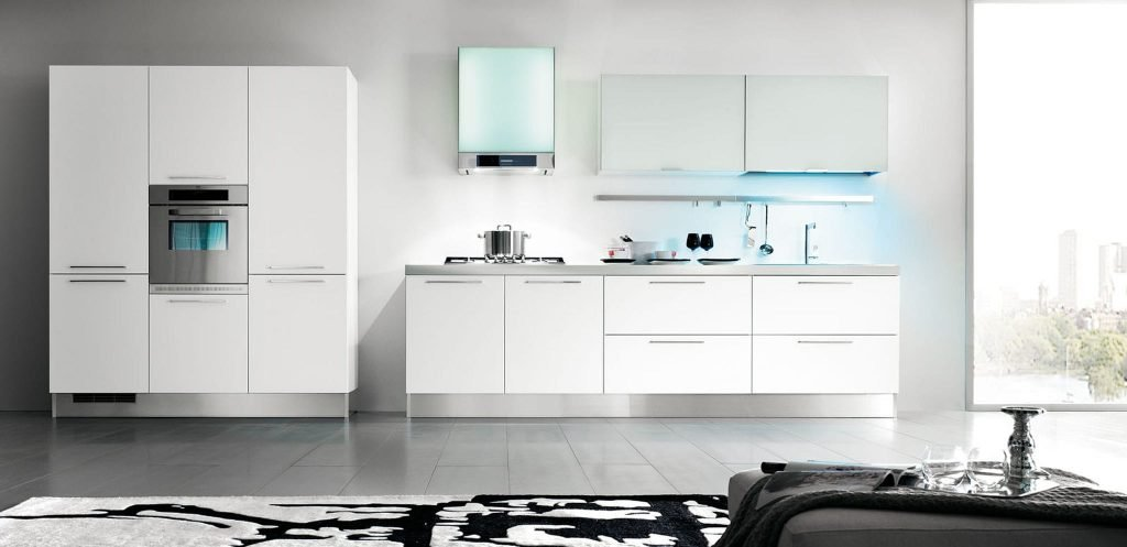 کابینت آشپزخانه PVC سفید