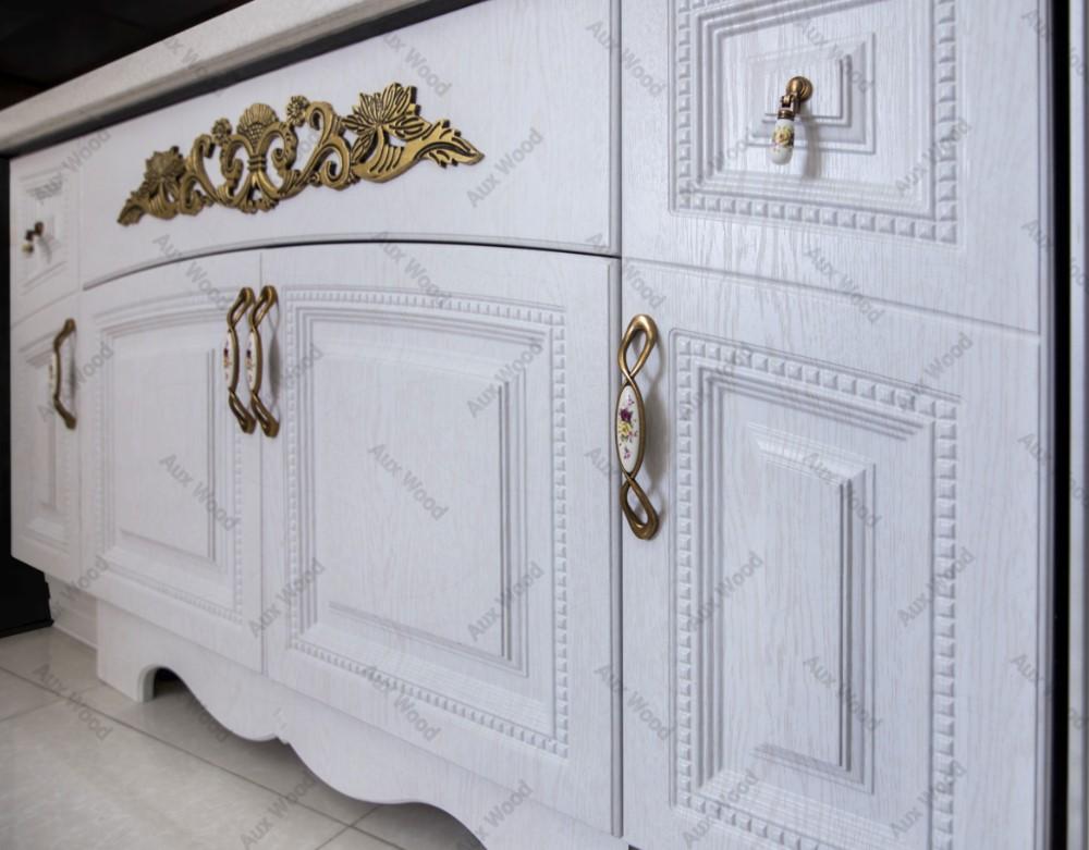 کابینت آشپزخانه سلطنتی با منبت طلایی
