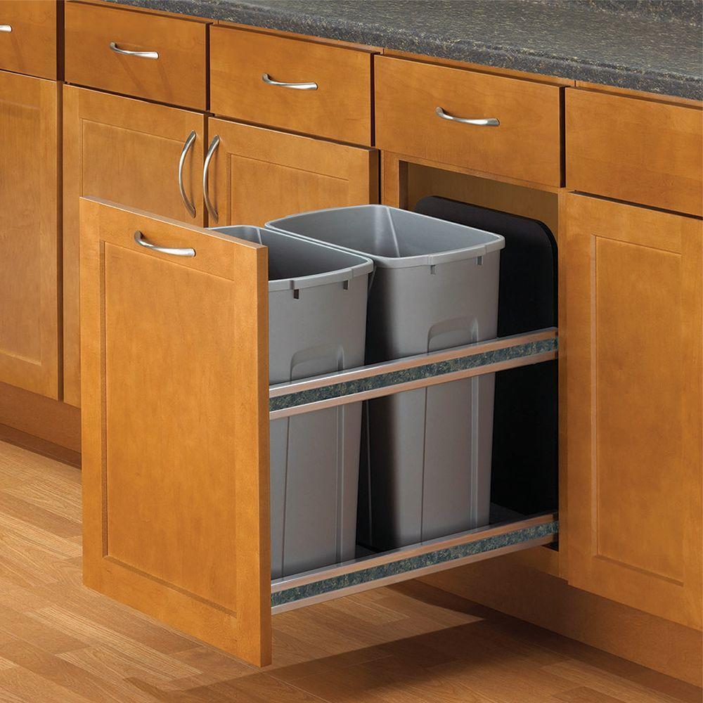 سازماندهی آشپزخانه های کوچک با سطل های توکار