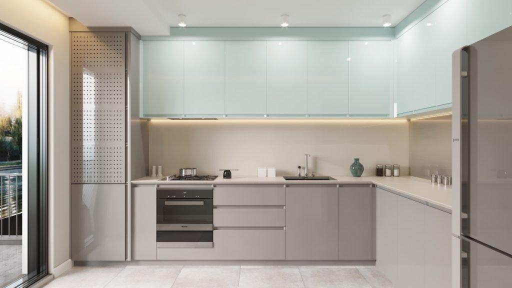 انواع طراحی آشپزخانه به صورت ال شکل