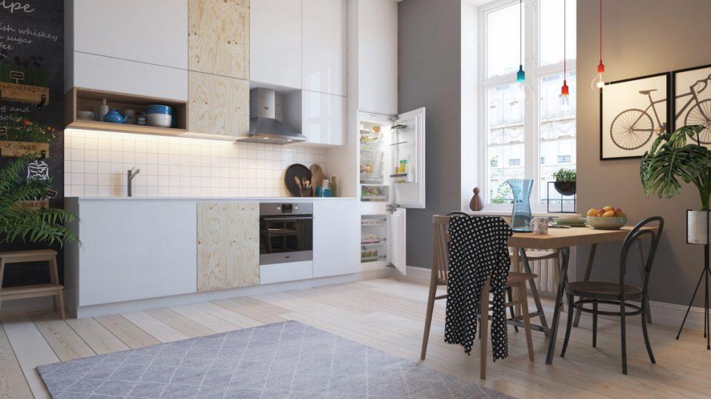 انواع طراحی آشپزخانه به صورت تک دیوار