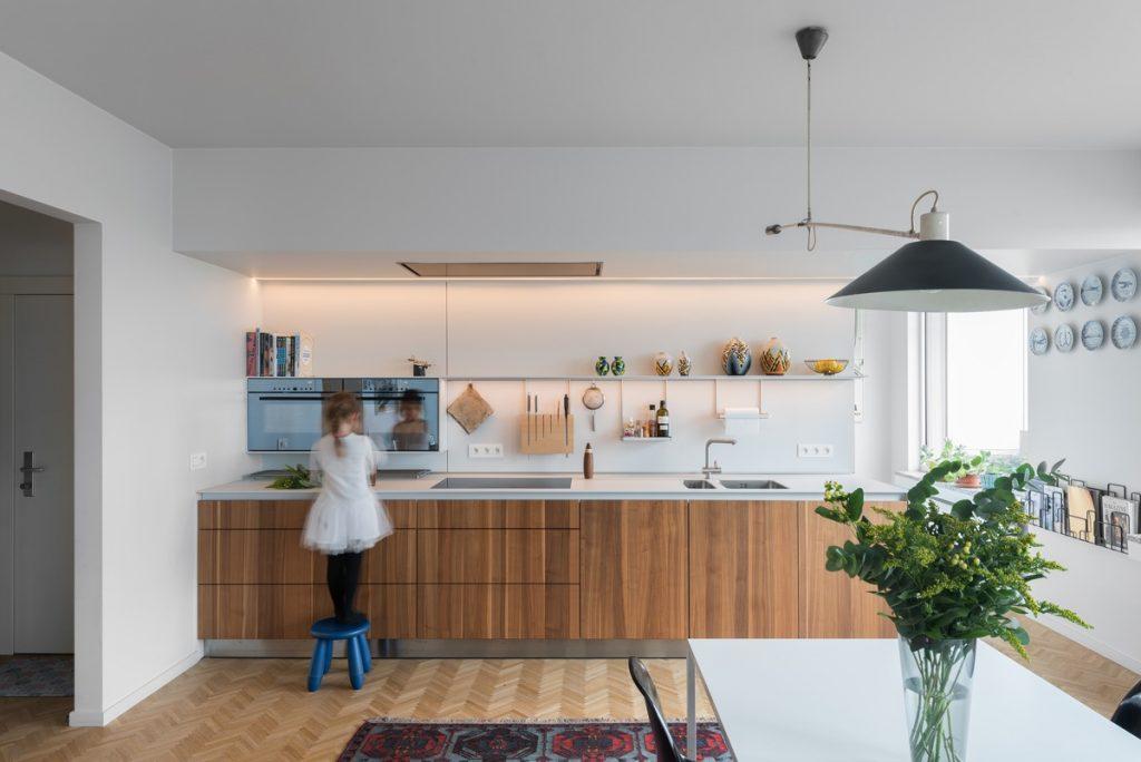 طراحی مناسب کابینت آشپزخانه یک دیواره