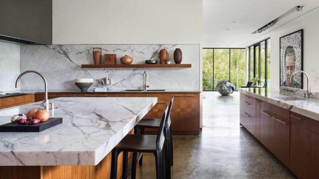 مدلهای ترکیبی پیشخوان آشپزخانه سنگ و چوب