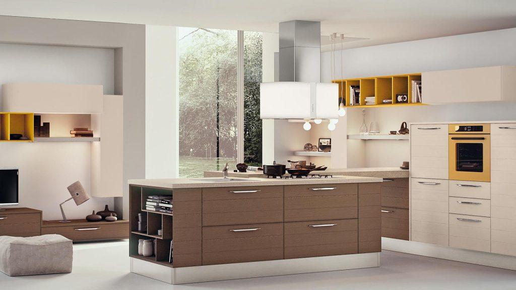 کابینت مدرن آشپزخانه دو رنگ