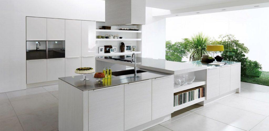 کابینت مدرن آشپزخانه سفید