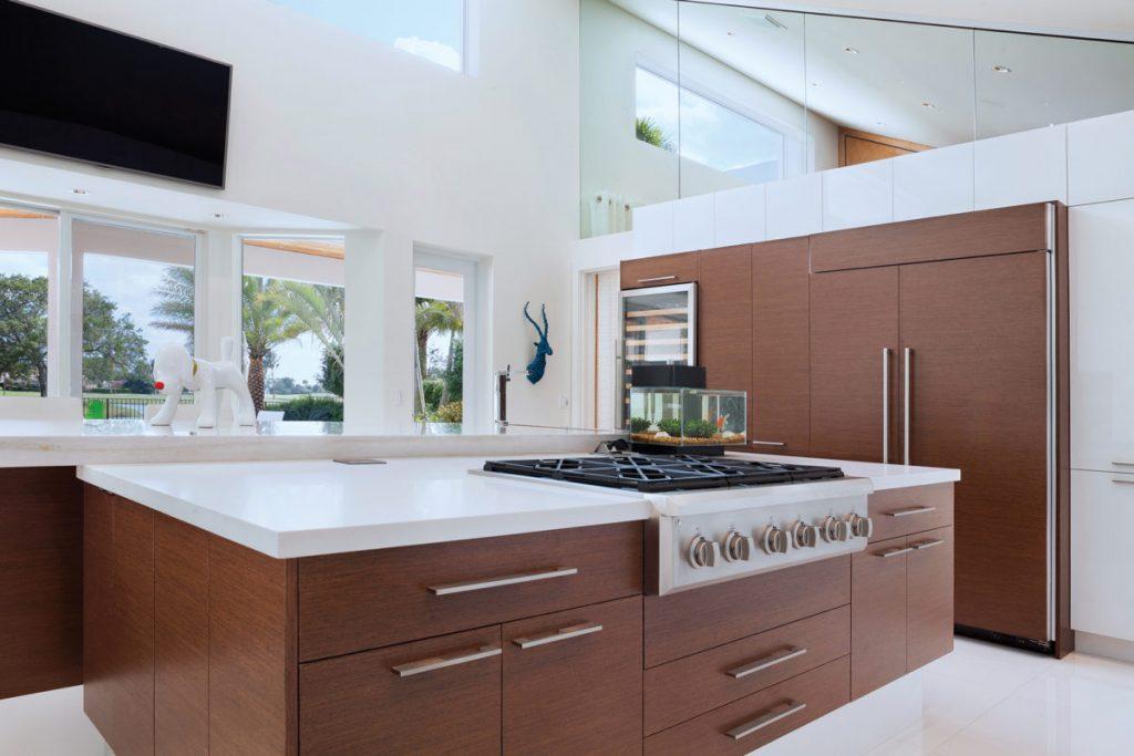 کابینت مدرن آشپزخانه قهوه ای