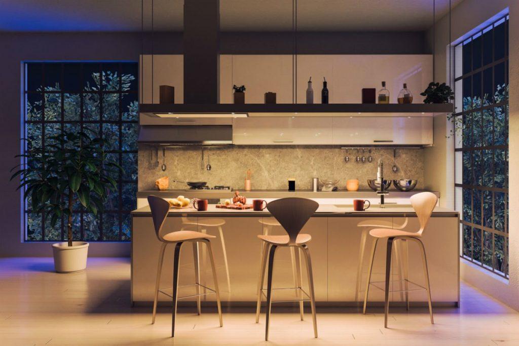 سیستم نورپردازی در آشپزخانه