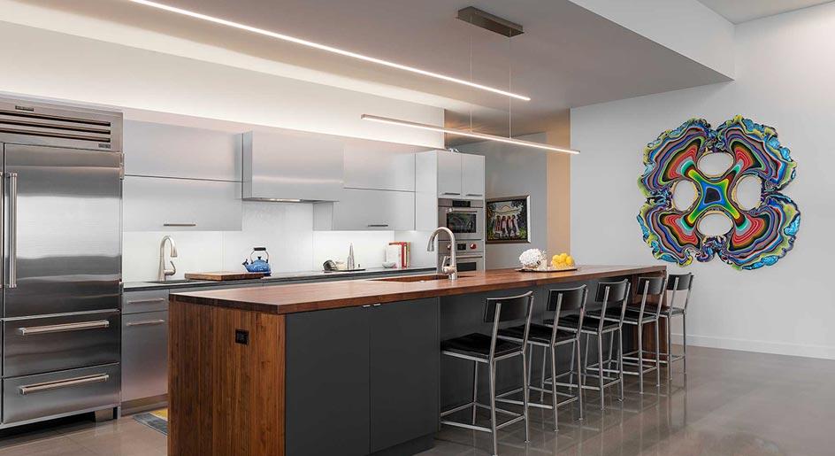 نورپردازی در آشپزخانه با هالوژن ها