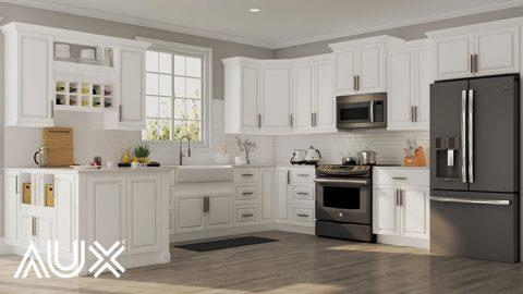 کابینت آشپزخانه سفید برای آشپزخانه کوچک