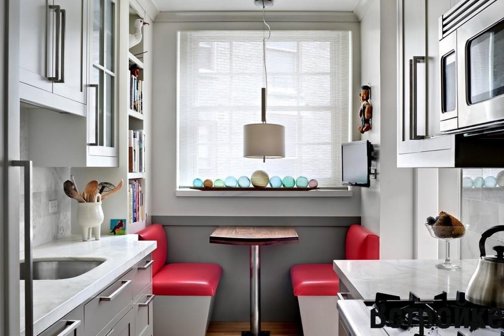 تاثیر رنگها برای مدل کابینت برای آشپزخانه مستطیل شکل