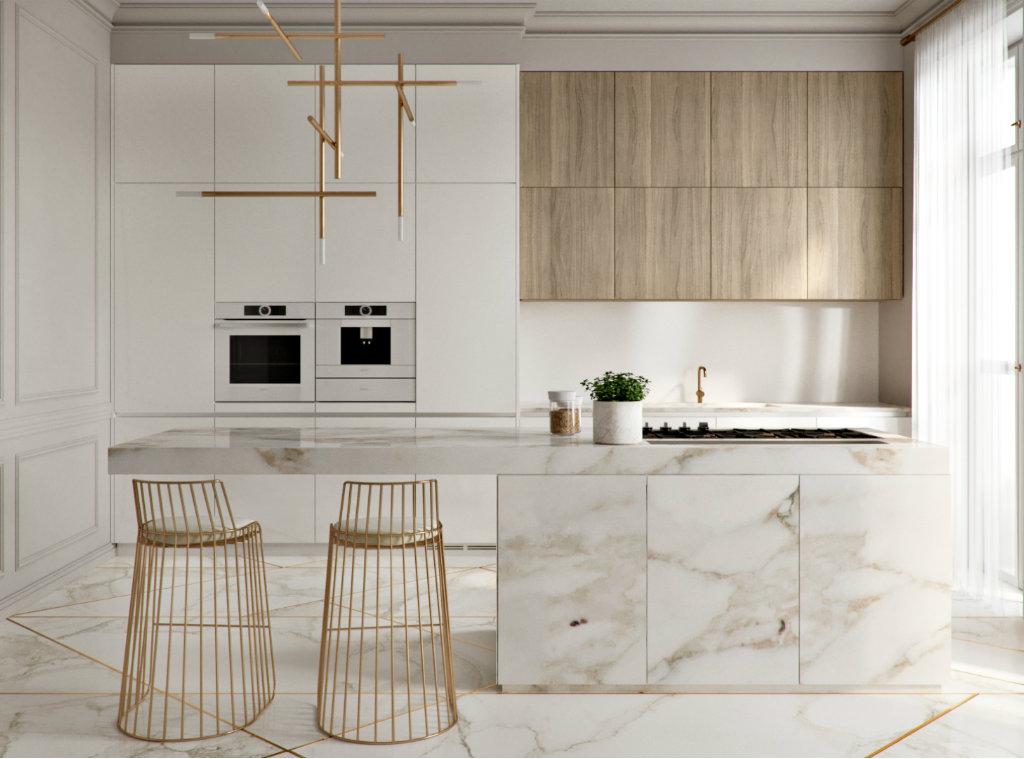 استفاده از کابینتهای پوششی برای آشپزخانه های مدرن