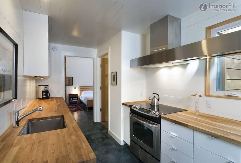 نقش خطوط در مدل کابینت برای آشپزخانه مستطیل شکل