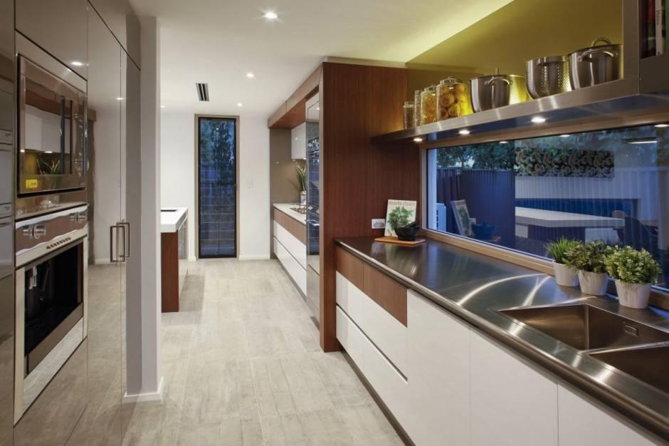مدل کابینت برای آشپزخانه مستطیل