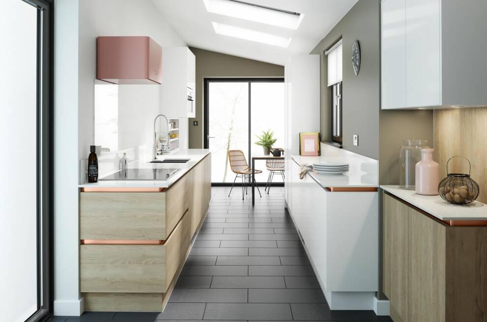 کابینت برای آشپزخانه مستطیل