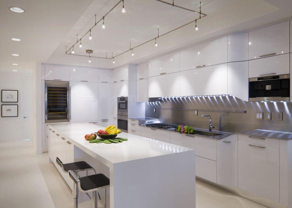 نورپردازی آشپپزخانه های سفید