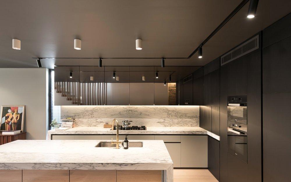 نورپردازی آشپزخانه با هالوژن