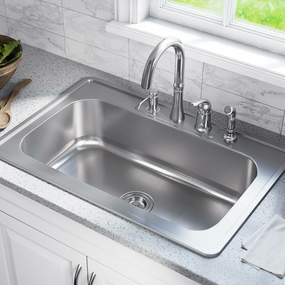 جای سینک ظرفشویی در آشپزخانه با پنجره