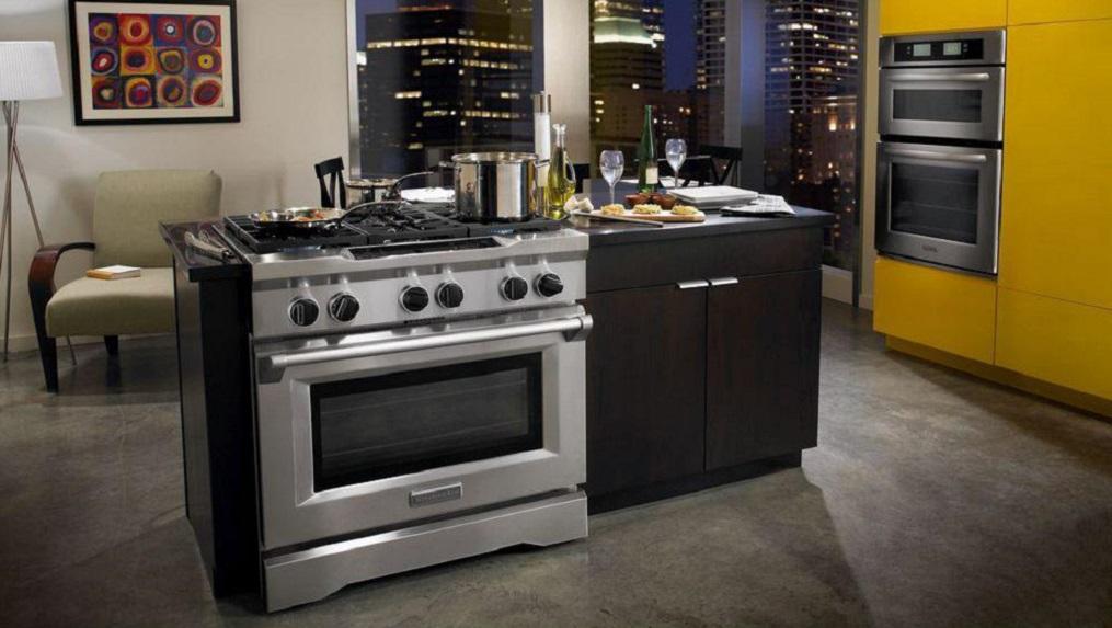 چیدمان استاندارد گاز در آشپزخانه