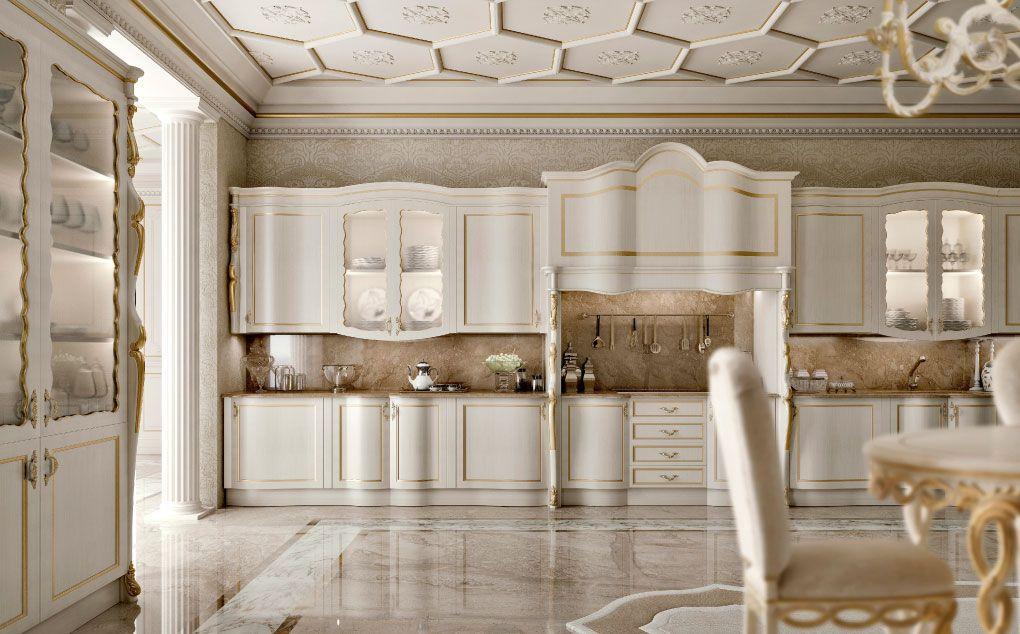 کابینت کلاسیک یکی از مجللترین انواع کابینت برای خانهها و آشپزخانههای بزرگ و سلطنتی