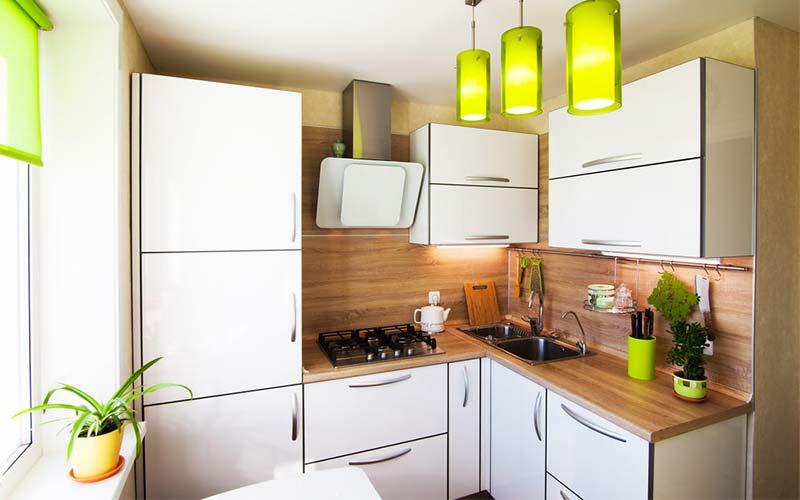 کابینت ام دی اف سفید مناسب آشپزخانه کوچک 2021