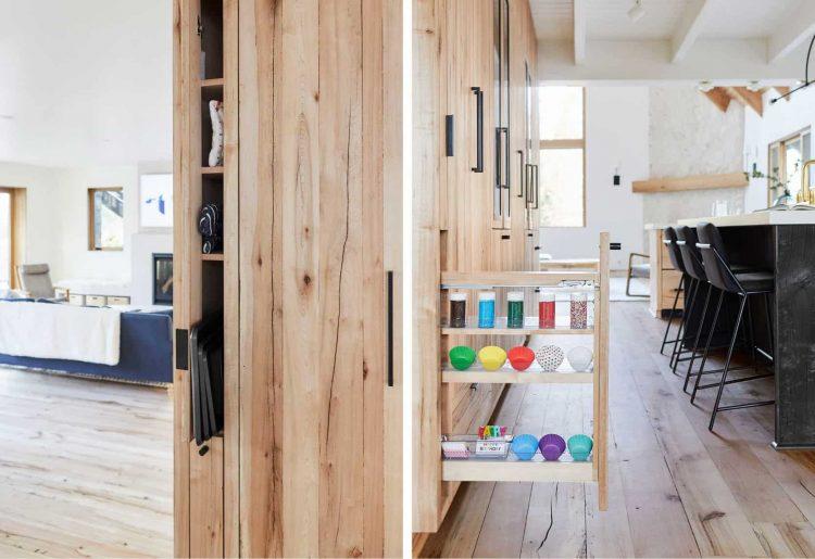 کابینت آشپزخانه چوبی روشن با طراحی منحصر به فرد 2021