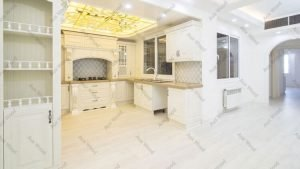 کابینت آشپزخانه ممبران سفید محصول آکس چوب