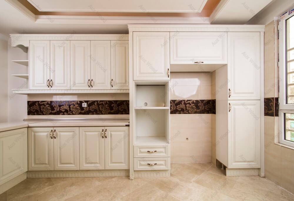 کابینت آشپزخانه ام دی اف با فضاسازی زیاد و طراحی مدرن