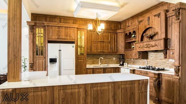 مزایا و معایب کابینت آشپزخانه تمام چوب