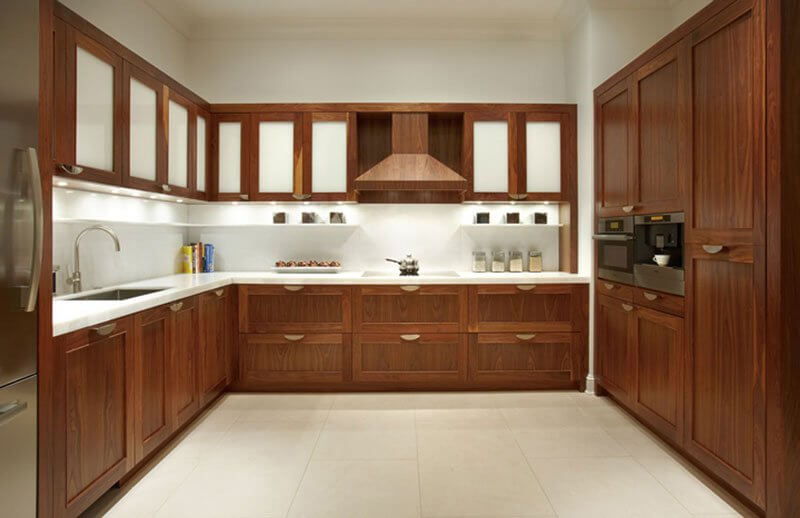 کابینت آشپزخانه روکش چوب خارجی